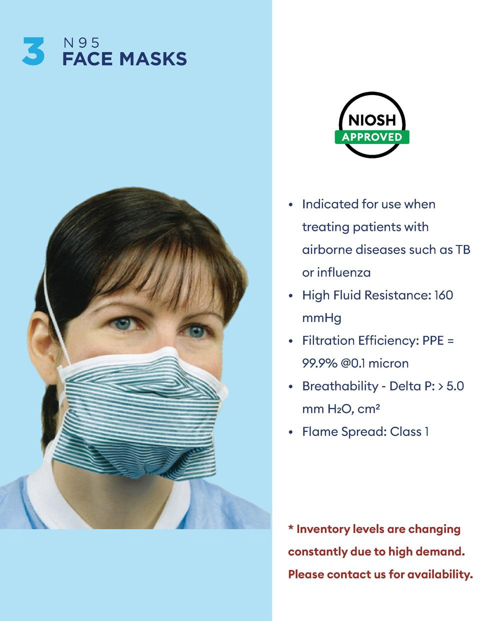 3  4  N95  FACE MASKS  KN95  FACE MASKS       Indicated for use when       Indicated for use when  treating patients with ...